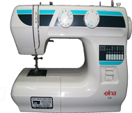 maquina de coser familiar elna 318